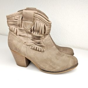 Bucco Tan Ankle Boots Size 8